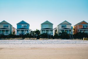 Beachfront houses